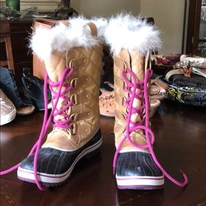 Sorel Fur Lined Winter Boots Size 9